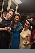MARINA COBBE; SYBILLE RUSSELL; LADY HAMILTON OF DALZELL, The Royal Caledonian Ball 2015. Grosvenor House. Park Lane, London. 1 May 2015.