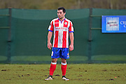 Dorking Wanderers heavily scouted Matt Briggs during the Ryman League - Div One South match between Dorking Wanderers and Lewes FC at Westhumble Playing Fields, Dorking, United Kingdom on 28 January 2017. Photo by Jon Bromley.