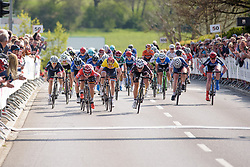 Sprint for the stage win between Delzenne and Bujak on Stage 2 of Festival Elsy Jacobs 2017. A 111.1 km road race on April 30th 2017, starting and finishing in Garnich, Luxembourg. (Photo by Sean Robinson/Velofocus)