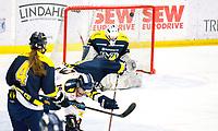 2018-03-14   Jönköping, Sweden: A shot from Djurgården Hockey during the quarterfinal game between HV71 and Djurgården Hockey at Kinnarps Arena ( Photo by: Marcus Vilson   Swe Press Photo )<br /> <br /> Keywords: Kinnarps Arena, Jönköping, SDHL, Hockey, HV71, Djurgården Hockey