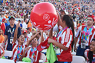 SO Paraguay Team while Closing Ceremony of the Special Olympics World Games Los Angeles 2015 at the Los Angeles Coliseum Stadium on ninth day, August 2, 2015 in Los Angeles, USA.<br /> <br /> USA, Los Angeles, August 2, 2015<br /> <br /> Picture also available in RAW (NEF) or TIFF format on special request.<br /> <br /> For editorial use only. Any commercial or promotional use requires permission.<br /> <br /> Adam Nurkiewicz declares that he has no rights to the image of people at the photographs of his authorship.<br /> <br /> Mandatory credit:<br /> Photo by © Adam Nurkiewicz / Mediasport