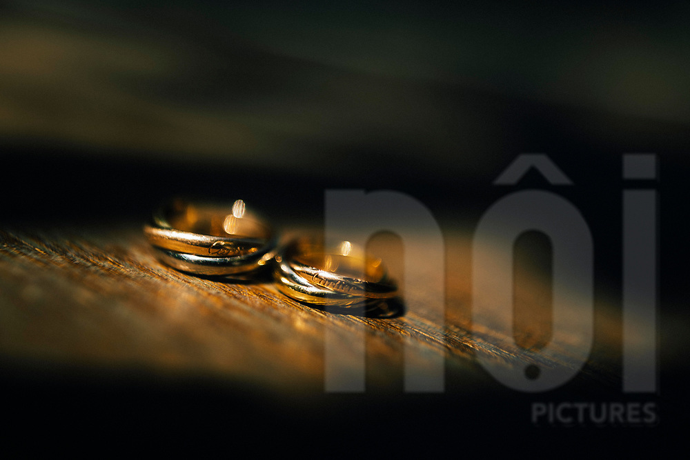 Detail of two wedding rings, Ko Samui, Thailand, Southeast Asia