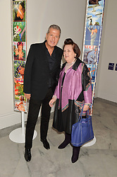 MARIO TESTINO and SUZY MENKES at the Alexandra Shulman and Leon Max hosted opening of Vogue 100: A Century of Style at The National Portrait Gallery, London on 9th February 2016.