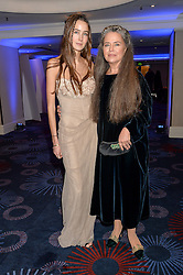 Left to right, TATIANA STARK and her mother KOO STARK at the Chain of Hope Ball held in aid of the charity Chain of Hope, founded by Professor Sir Magdi Yacoub which organises volunteer teams worldwide to operate on children suffering from life-threatening heart diseases, held at the Grosvenor House Hotel, Park Lane, London on 20th November 2015.