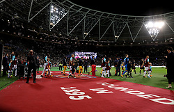 A general view as the two team's walk out before kick-off