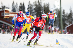 March 10, 2019 - –Stersund, Sweden - 190310 Felix Leitner of Austria during the Men's 12,5 km Pursuit during the IBU World Championships Biathlon on March 10, 2019 in Östersund..Photo: Petter Arvidson / BILDBYRÃ…N / kod PA / 92255 (Credit Image: © Petter Arvidson/Bildbyran via ZUMA Press)