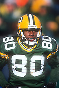Green Bay Packers receiver Donald Driver (80) during an NFL football game against the Minnesota Vikings, Sunday, Dec. 30, 2001, in Green Bay, Wisc. The Packers defeated the Vikings 24-13.