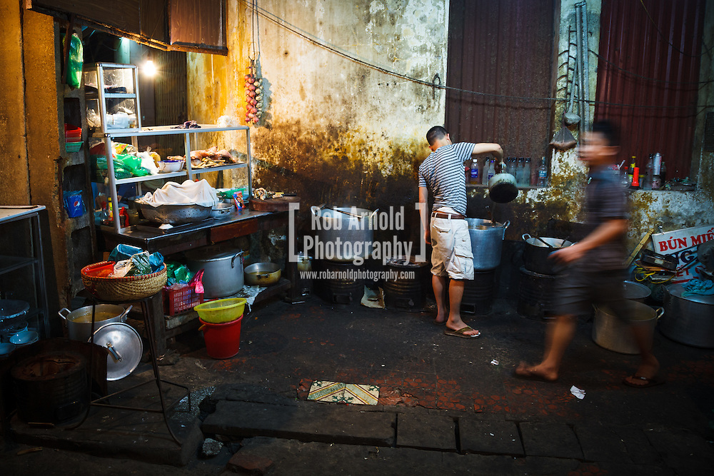 A street food outlet near the main train station in the Vietnamese capital city, Hanoi.