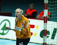 Håndball, 26. september 2002. Treningskamp, Norge - Jugoslavia 31-19. Heidi Tjugum Mørk, Norge.