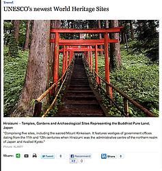 The Telegraph - new UNESCO Heritage sites