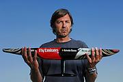 Emirates Team New Zealand Designer Marcelino Botin with Half Model. 17/7/2006