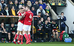 Jamie Paterson of Bristol City celebrates scoring to make it 0-1 - Mandatory by-line: Arron Gent/JMP - 23/02/2019 - FOOTBALL - Carrow Road - Norwich, England - Norwich City v Bristol City - Sky Bet Championship
