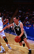 Phill Jones during the Men's basketball match between the New Zealand Tall Blacks and France at the Olympics in Sydney, Australia on 17 September, 2000. Photo: PHOTOSPORT<br /> <br /> <br /> <br /> <br /> 170900 *** Local Caption ***