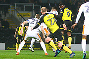 Burton Albion's Darren Bent heads at goal during the EFL Sky Bet Championship match between Burton Albion and Hull City at the Pirelli Stadium, Burton upon Trent, England on 10 April 2018. Picture by John Potts.