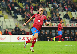November 15, 2018 - Gdansk, Pomorze, Poland - Borek Dockal (9) during the international friendly soccer match between Poland and Czech Republic at Energa Stadium in Gdansk, Poland on 15 November 2018  (Credit Image: © Mateusz Wlodarczyk/NurPhoto via ZUMA Press)