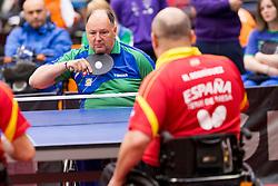Bojan Lukezic of Slovenia at 14th Slovenia Open - Thermana Lasko 2017 Table Tennis for the Disabled Factor 40, on May 7, 2017, in Dvorana Tri Lilije, Lasko, Slovenia. Photo by Urban Urbanc / Sportida