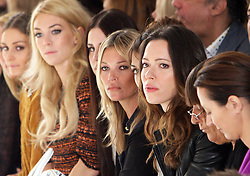 Kate Moss in the front row at the Mulberry  show at London  Fashion Week for Spring/Summer 2013 Tuesday, September 18th 2012.  Photo by: Stephen Lock / i-Images