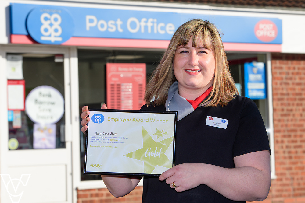 Lincolnshire Co-operative's Celebrating Success Evening winners.  Mary-Jane Storr, manager at Market Rasen Post Office, was awarded 3 e's gold award.<br /> <br /> Picture: Chris Vaughan Photography for Lincolnshire Co-op<br /> Date: March 24, 2017