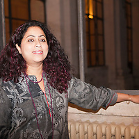 "Anita Nair, Indian-English writer at the ""Casa Della Letteratura"", Rome, Italy. Taken 15th December 2011<br /> <br /> Picture by Steve Bisgrove/Writer Pictures<br /> <br /> WORLD RIGHTS"