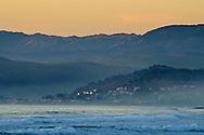 Coastal Community of Cayucos as seen from Morro Bay, California