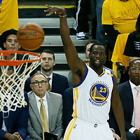 04 June 2017: Golden State Warriors forward Draymond Green (23) eyes the ball during the Golden State Warriors 132-113 victory over the Cleveland Cavaliers, in game 2 of the 2017 NBA Finals, at the Oracle Arena, Oakland, California, USA.