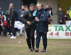 Bristol Rovers Manager Darrell Clarke Newport County Manager  Warren Feeney - Mandatory byline: Alex James/JMP - 19/03/2016 - FOOTBALL - Rodney Parade - Newport, England - Newport County v Bristol Rovers - Sky Bet League Two