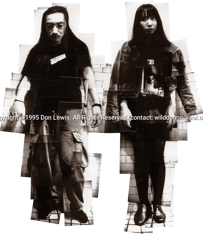 Masami Akita (L) and Reiko A (R) of Merzbow at Spaceland, Silver Lake, CA, Sept. 11, 1995.