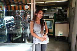 Every Sunday afternoon when many domestic workers are given a break from work, the Nepalese community comes from all over the country to meet outside a cafe in Beirut.