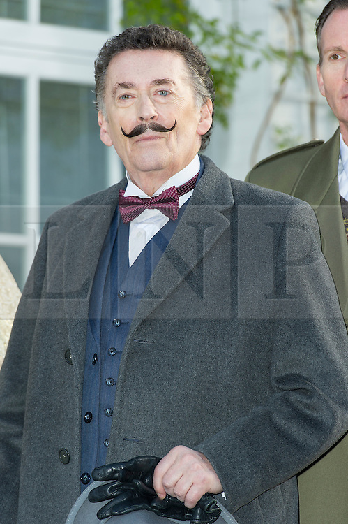 © Licensed to London News Pictures. 10/01/2014, UK. Robert Powell, Agatha Christie: Black Coffee - Photocall, 22 Cresswell Place, London UK (Former home of Agatha Christie), 10 January 2014. Photo credit : Raimondas Kazenas/Piqtured/LNP