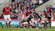 2004/05 Heineken_Cup, NEC,Harlequins vs Munster, RFU Twickenham,ENGLAND:.Quins Scrum half  Steve So'oialo, moves the ball out...Photo  Peter Spurrier. .email images@intersport-images.com...