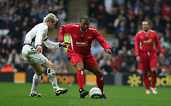LIVERPOOL, ENGLAND - SUNDAY MARCH 27th 2005: Liverpool Legends' John Barnes and Celebrity XI's Nicky Byrne during the Tsunami Soccer Aid match at Anfield. (Pic by David Rawcliffe/Propaganda)