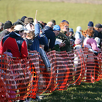 The crowd gather for the 2nd race at the annual Bellhabour point to point on Sunday.<br /> Photograph by Yvonne Vaughan