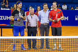 Carlos Moya (ESP) and Magnus Norman (SWE) after exhibition match at 26. Konzum Croatia Open Umag 2015, on July 22, 2015, in Umag, Croatia. Photo by Urban Urbanc / Sportida