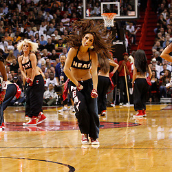 March 3, 2011; Miami, FL, USA; Miami Heat dancers perform during the fourth quarter of a game against the Orlando Magic at the American Airlines Arena. The Magic defeated the Heat 99-96.    Mandatory Credit: Derick E. Hingle