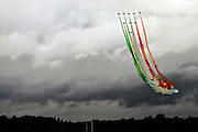 The Italian Frecce Tricolori acrobatics team at the Royal International Air Tattoo (RIAT) Air Show July 2009