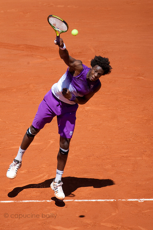 Roland Garros 2011. Paris, France. May 25th 2011..French player Gael MONFILS against Guillaume RUFIN