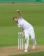 Liam Dawson of Hampshire bowling during the Specsavers County Champ Div 1 match between Hampshire County Cricket Club and Surrey County Cricket Club at the Ageas Bowl, Southampton, United Kingdom on 6 September 2017. Photo by Graham Hunt.