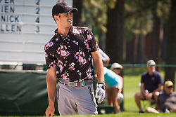 July 15, 2018 - Stateline, Nevada, U.S - Former Bachelor (Season 20), BEN HIGGINS, at the 17th hole during the 29th annual American Century Championship at the Edgewood Tahoe Golf Course at Lake Tahoe, Stateline, Nevada, on Sunday, July 15, 2018. (Credit Image: © Tracy Barbutes via ZUMA Wire)