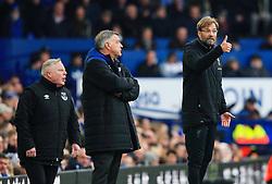 Everton manager Sam Allardyce looks on as Liverpool manager Jurgen Klopp gives his players a thumbs up - Mandatory by-line: Matt McNulty/JMP - 07/04/2018 - FOOTBALL - Goodison Park - Liverpool, England - Everton v Liverpool - Premier League
