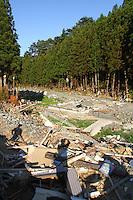 May 18, 2011; Minamisanriku, Miyagi Pref., Japan - Damage at Shizuhama Station in Minamisanriku after the magnitude 9.0 Great East Japan Earthquake and Tsunami that devastated the Tohoku region of Japan on March 11, 2011.