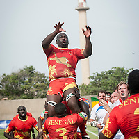 11/06/2013. Stade Iba Mr Diop, Dakar, Senegal. Action de Séga Thiandoum pendant la demi-finale de la Coupe d'Afrique des Nations B contre la Namibie. ©Sylvain Cherkaoui
