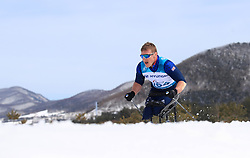 Great Britain's Scott Meenagh competes in the Men's 7.5km, Sitting Cross Country Skiing, at the Alpensia Cross Country Centre during day eight of the PyeongChang 2018 Winter Paralympics in South Korea.