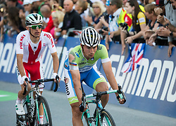 Arrival of MAJKA Rafal of Poland and Primoz Roglic of Slovenia at the Men Elite Road Race at 258.5km Race from Kufstein to Innsbruck 582m at the 91st UCI Road World Championships 2018 / RR / RWC / on September 30, 2018 in Innsbruck, Austria. Photo by Vid Ponikvar / Sportida