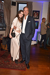 Frankie Herbert and her father the Hon.Harry Herbert at The Tribe Syndicate launch party hosted by Highclere Thoroughbred Racing at Beaufort House, 354 King's Rd, London England. 25 April 2018.