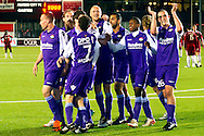 Onderwerp/Subject: Willem II - Jupiler League<br /> Reklame:  <br /> Club/Team/Country: Willem II<br /> Seizoen/Season: 2011/2012<br /> FOTO/PHOTO: Players of Willem II celebrating victory after the match ( 1 - 4 ). (Photo by PICS UNITED)<br /> <br /> Trefwoorden/Keywords: <br /> #02 #18 $94 ±1324460718817<br /> Photo- & Copyrights © PICS UNITED <br /> P.O. Box 7164 - 5605 BE  EINDHOVEN (THE NETHERLANDS) <br /> Phone +31 (0)40 296 28 00 <br /> Fax +31 (0) 40 248 47 43 <br /> http://www.pics-united.com <br /> e-mail : sales@pics-united.com (If you would like to raise any issues regarding any aspects of products / service of PICS UNITED) or <br /> e-mail : sales@pics-united.com   <br /> <br /> ATTENTIE: <br /> Publicatie ook bij aanbieding door derden is slechts toegestaan na verkregen toestemming van Pics United. <br /> VOLLEDIGE NAAMSVERMELDING IS VERPLICHT! (© PICS UNITED/Naam Fotograaf, zie veld 4 van de bestandsinfo 'credits') <br /> ATTENTION:  <br /> © Pics United. Reproduction/publication of this photo by any parties is only permitted after authorisation is sought and obtained from  PICS UNITED- THE NETHERLANDS