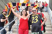 Foto di Donato Fasano .15  05  2011  Bari ( Italia ).Sport Calcio.AS Bari -  Us Lecce   TIM Serie A 2010  2011 - Stadio San Nicola Bari.Nella foto: tifosi leccesi curva sud .