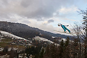 Poland, Wisla Malinka - 2017 November 19: Andreas Schuler from Switzerland soars through the air while Men&rsquo;s Individual HS134 competition during FIS Ski Jumping World Cup Wisla 2017/2018 - Day 3 at jumping hill of Adam Malysz on November 19, 2017 in Wisla Malinka, Poland.<br /> <br /> Mandatory credit:<br /> Photo by &copy; Adam Nurkiewicz<br /> <br /> Adam Nurkiewicz declares that he has no rights to the image of people at the photographs of his authorship.<br /> <br /> Picture also available in RAW (NEF) or TIFF format on special request.<br /> <br /> Any editorial, commercial or promotional use requires written permission from the author of image.