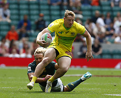 May 26, 2019 - Twickenham, England, United Kingdom - Jesse Parahi of Australia.during The HSBC World Rugby Sevens Series 2019 London 7s Cup Quarter Final Match 29 between South Africa and Australia at Twickenham on 26 May 2019. (Credit Image: © Action Foto Sport/NurPhoto via ZUMA Press)