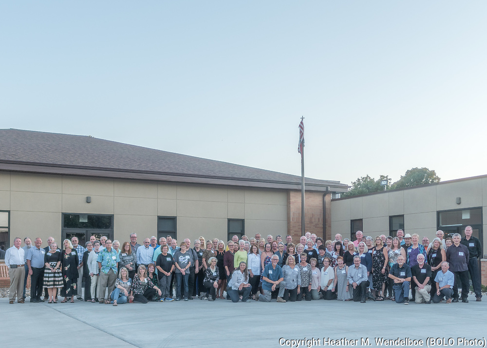 BOLO Photo<br /> Wild West Automotive Photography<br /> Mitchell HS 50th Class Reunion<br /> Group Photo<br /> September 14, 2019 <br /> Mitchell, South Dakota