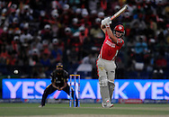 David Miller of the Kings X1 Punjab bats during match 15 of the Pepsi Indian Premier League 2014 Season between The Kings XI Punjab and the Kolkata Knight Riders held at the Sheikh Zayed Stadium, Abu Dhabi, United Arab Emirates on the 26th April 2014<br /> <br /> Photo by Pal Pillai / IPL / SPORTZPICS